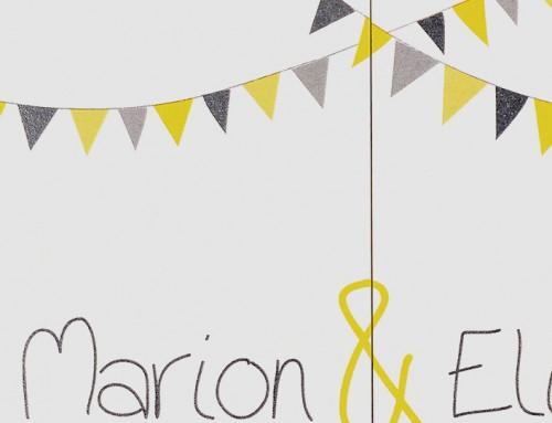 FAIRE-PART MARIAGE MARION & ÉLISÉE