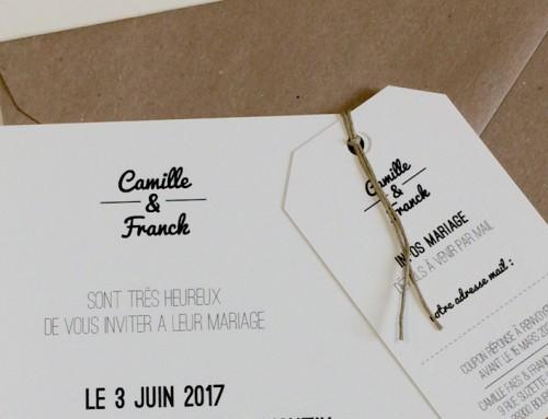 FAIRE-PART MARIAGE CAMILLE & FRANCK