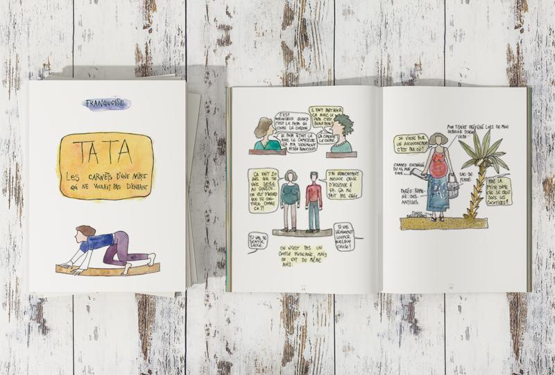 Mise En Page D Aquarelles Dans Un Livre Imprime Projet