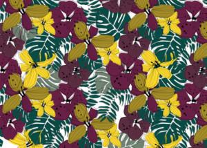 design textile flower dlp